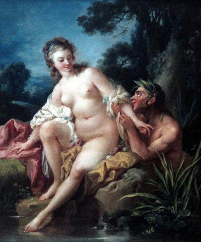 Порно нимфы с сатиром